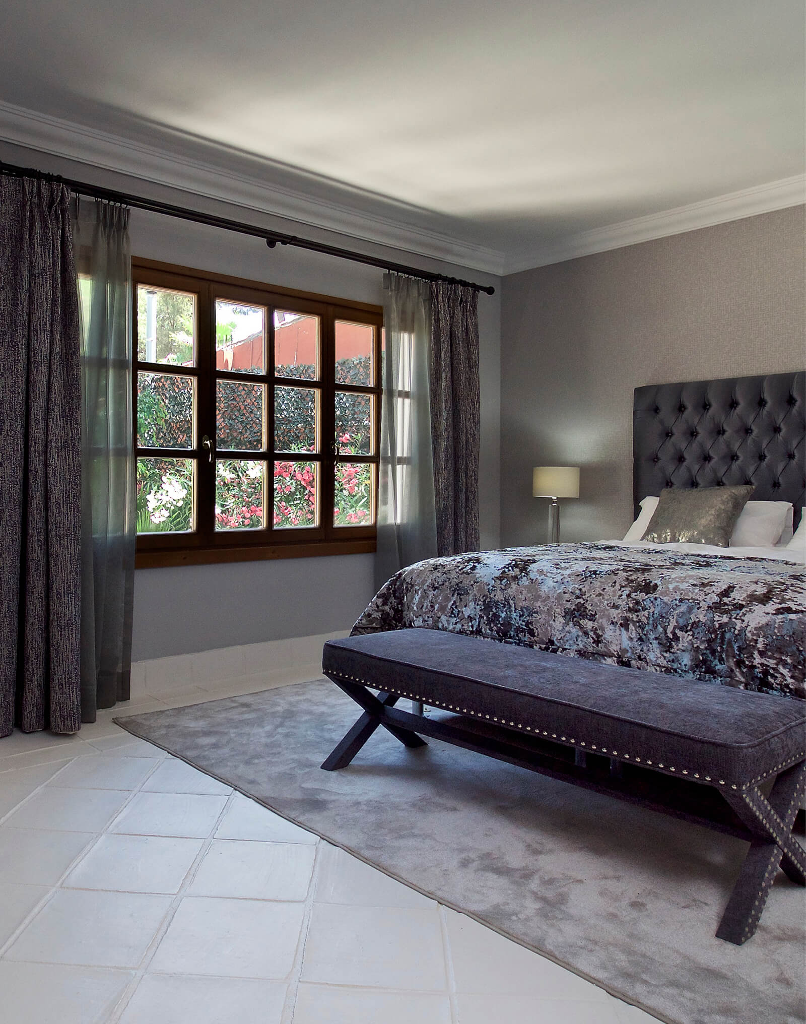 Authentic Andalucian Villa bedroom left