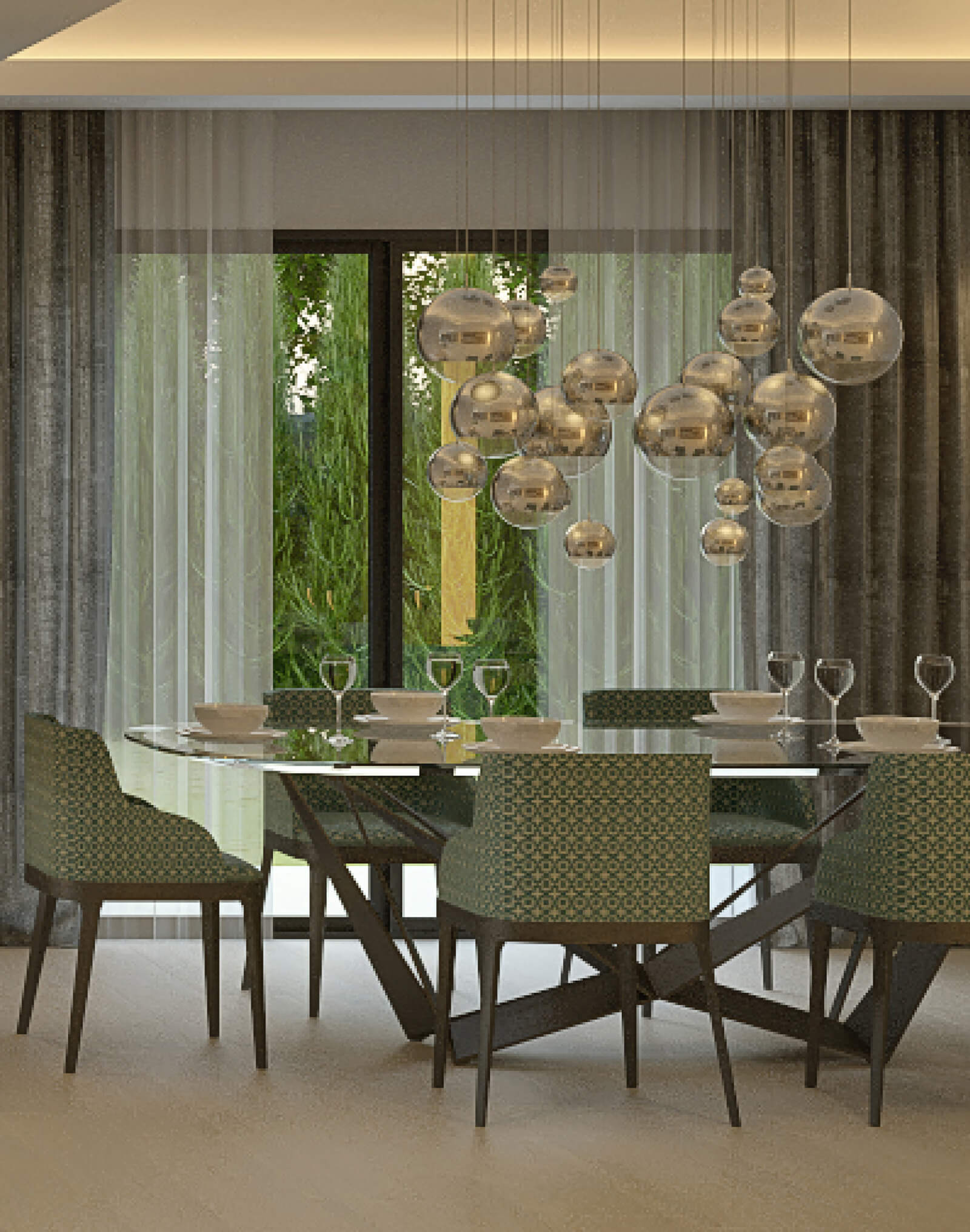 Modern Holiday Home dining room