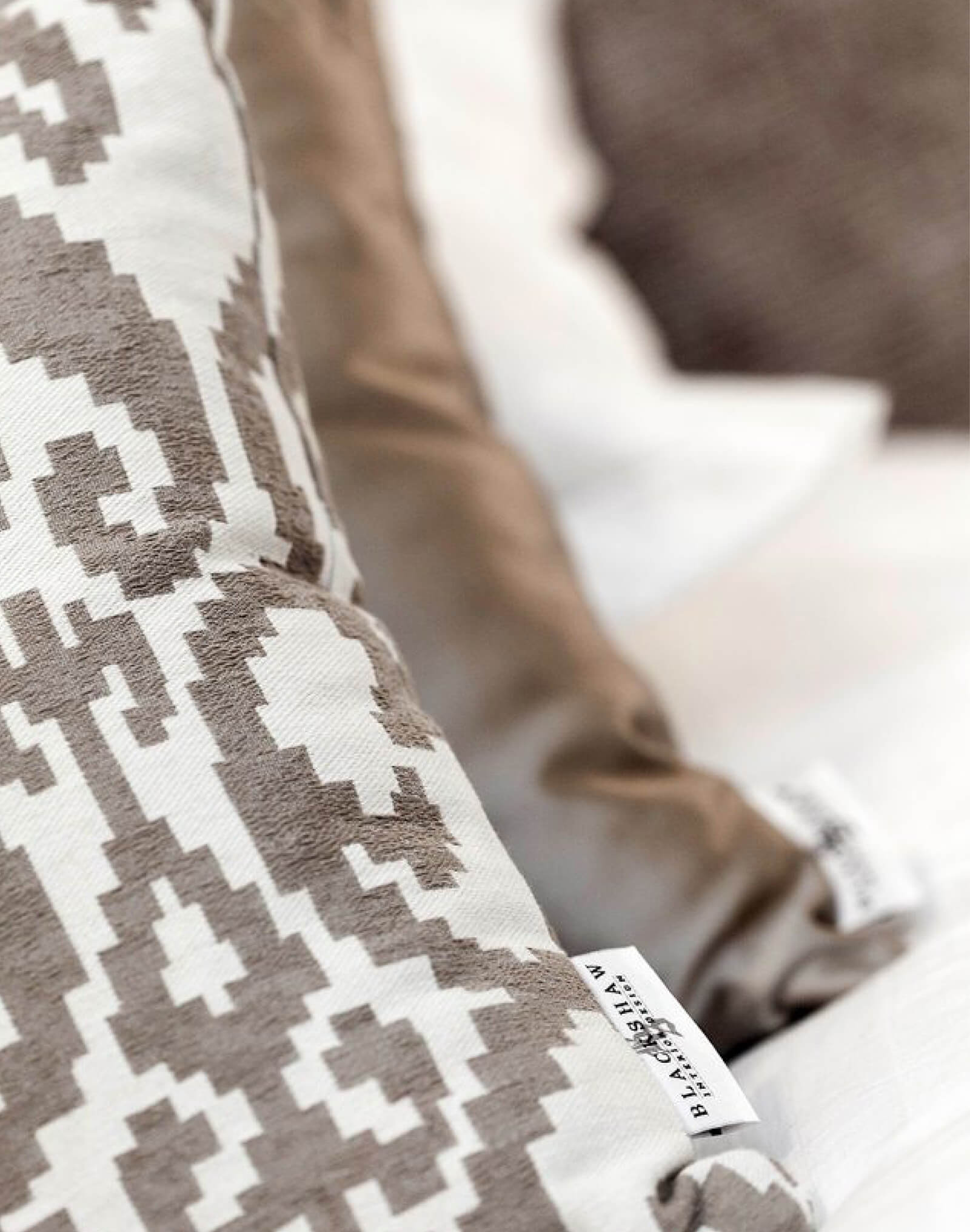 Contemporary Villa Renovation pillow detail