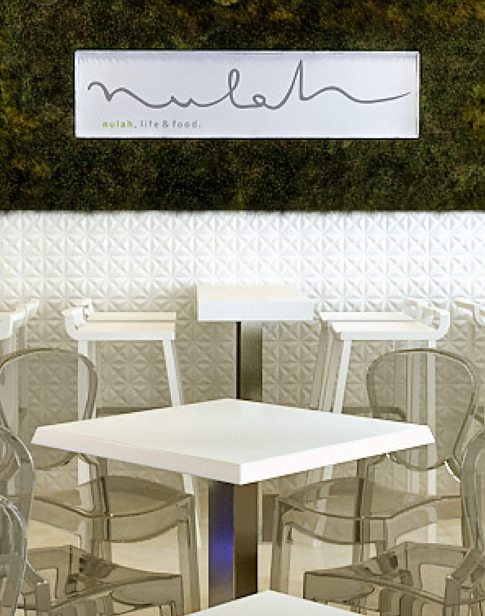 Mulah Cafe tables