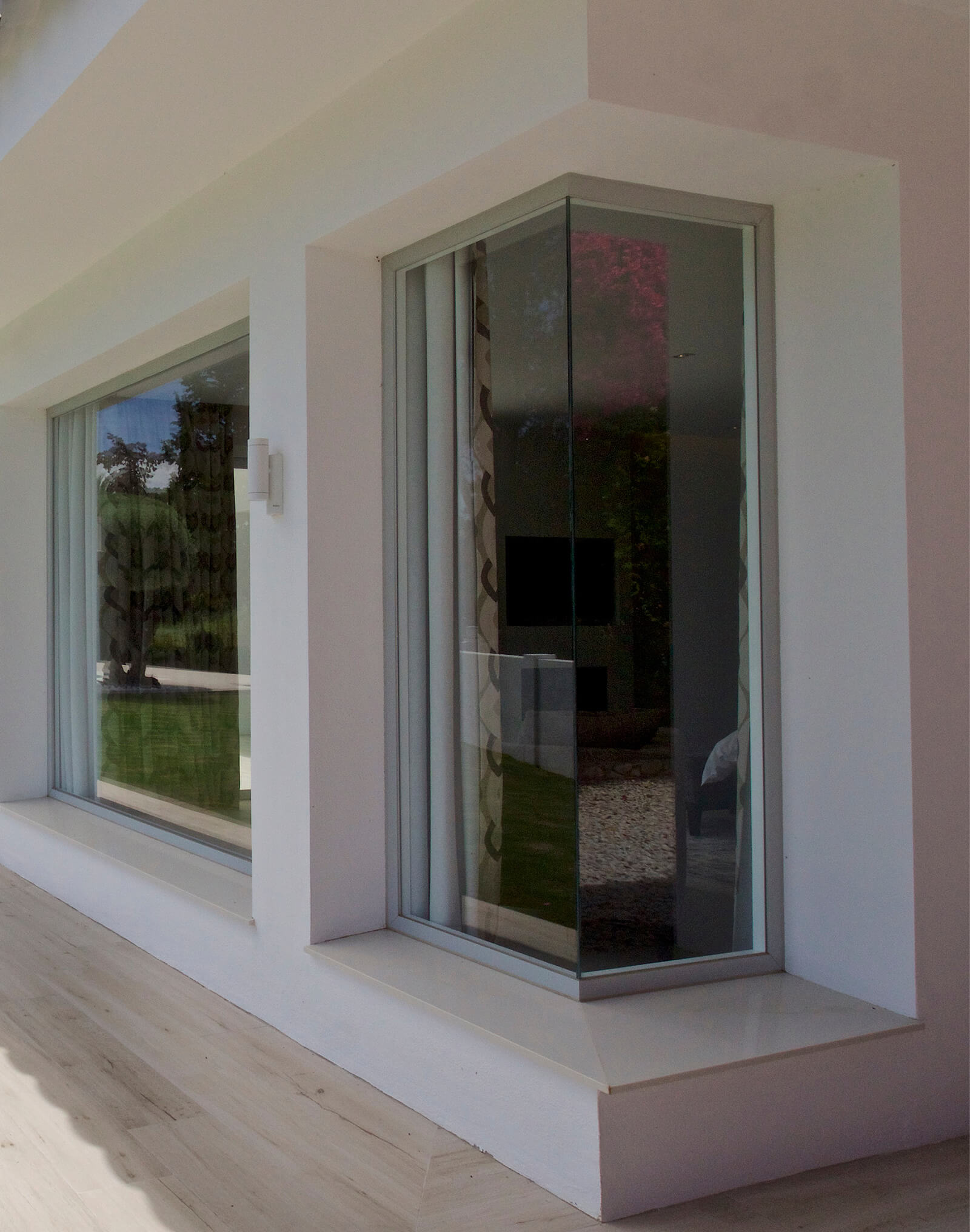 Modern Family Residence exterior window