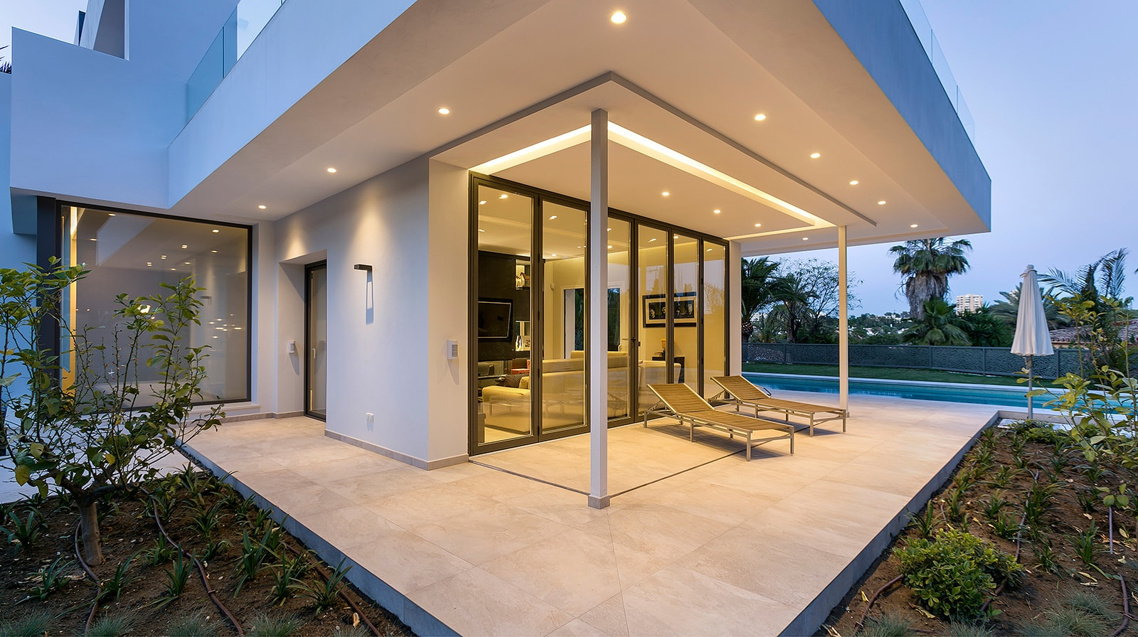 Luxurious New Build Villa terrace
