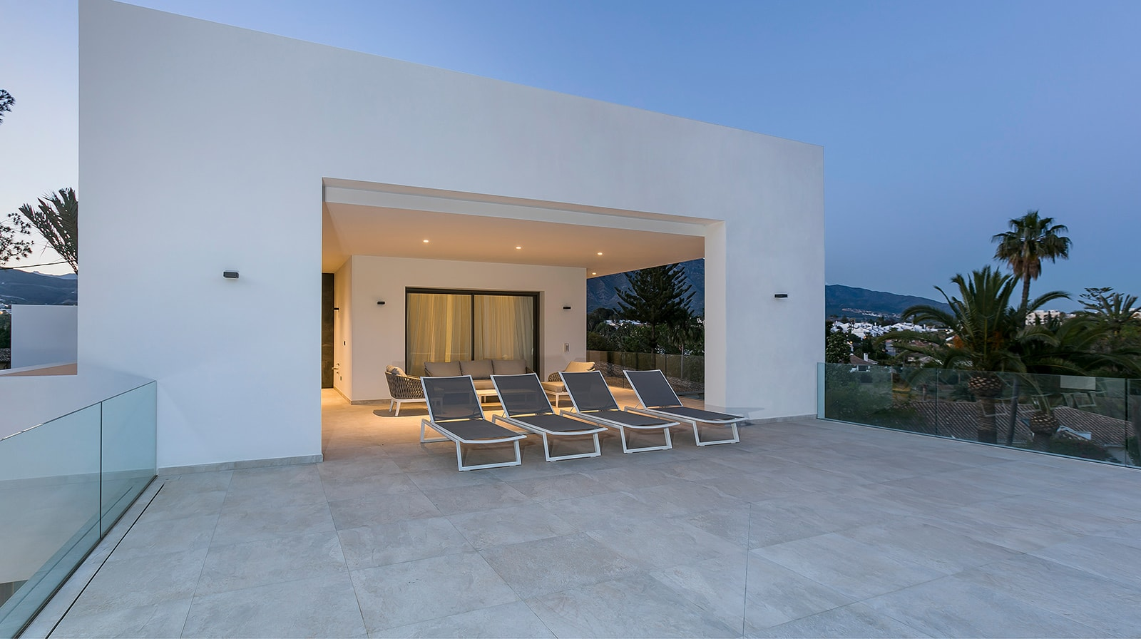 Luxurious New Build Villa terrace view