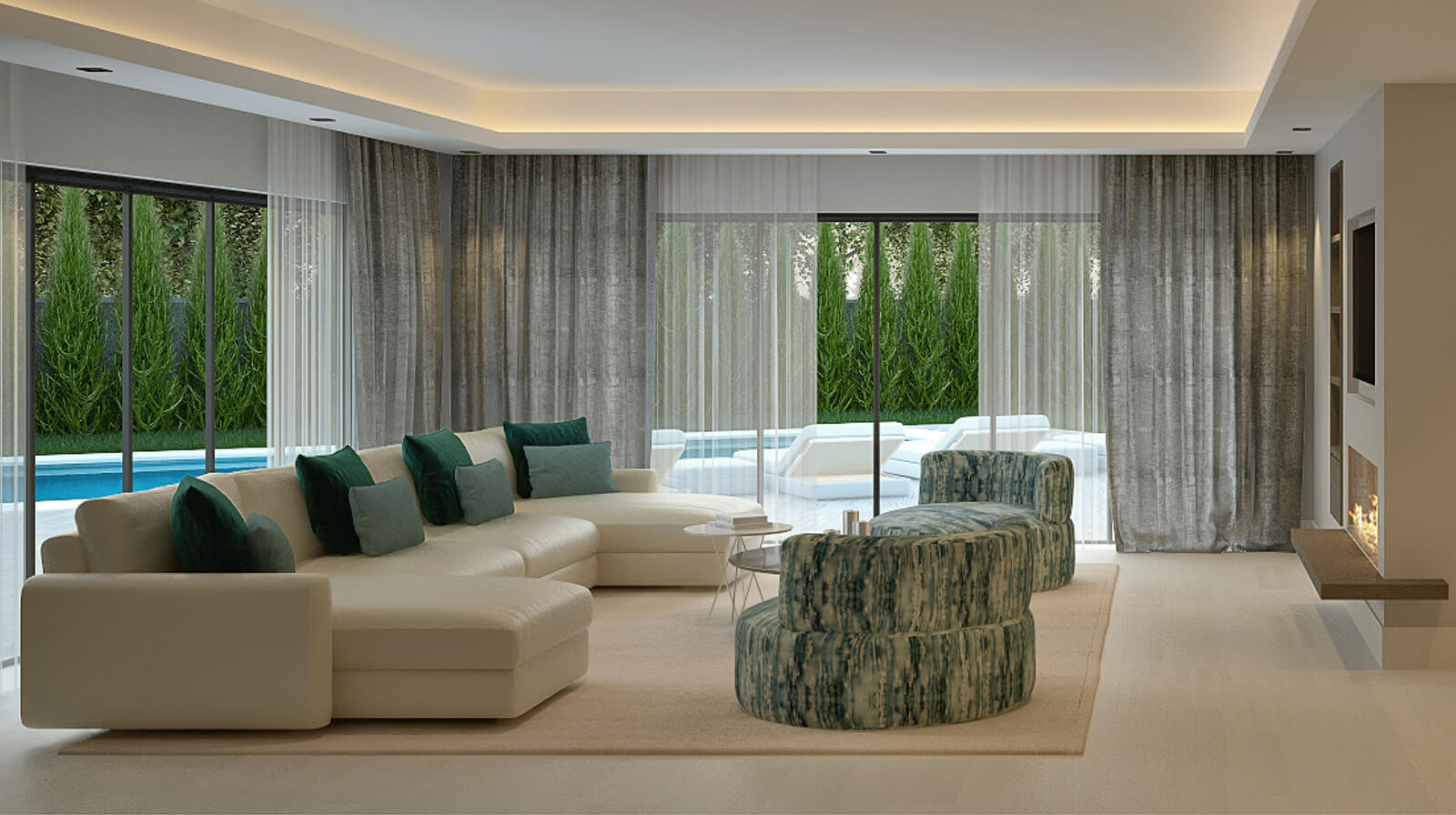 Modern Holiday Home living room