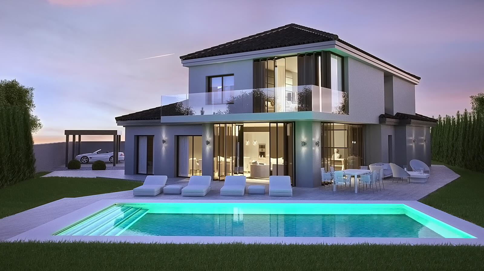 Modern Holiday Home exterior