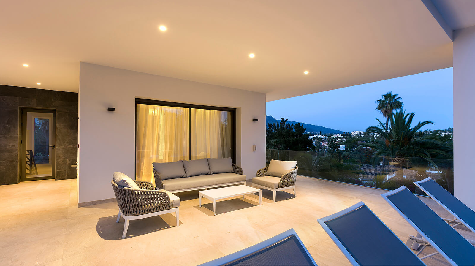 Private Family Villa terrace sitting area