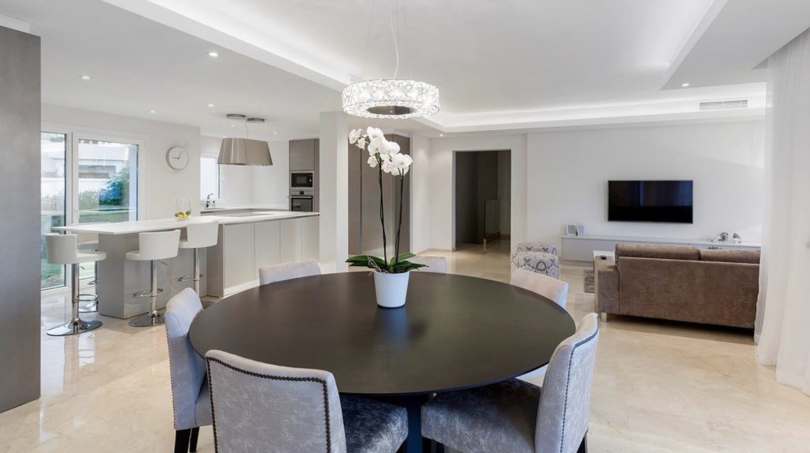 Contemporary Villa Renovation dining table