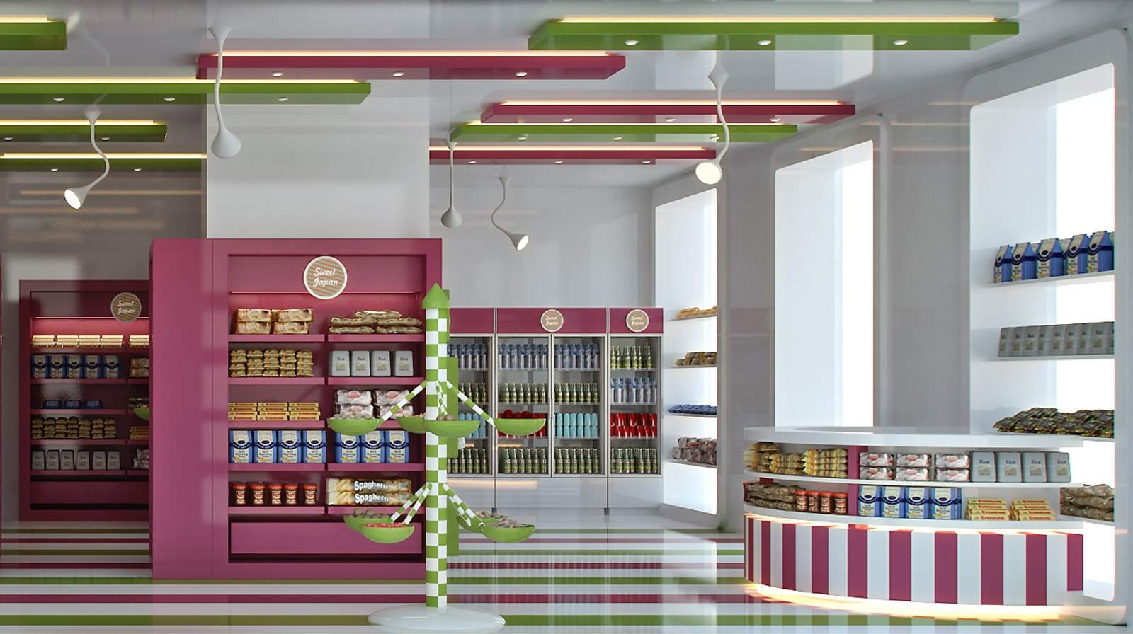 Japan Sweet Shop interior view