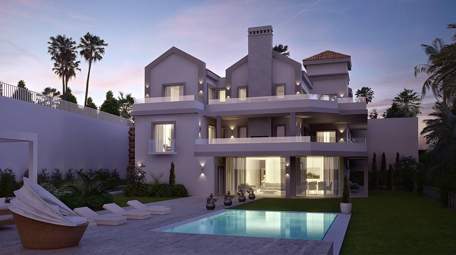 Private Multilevel Villa exterior