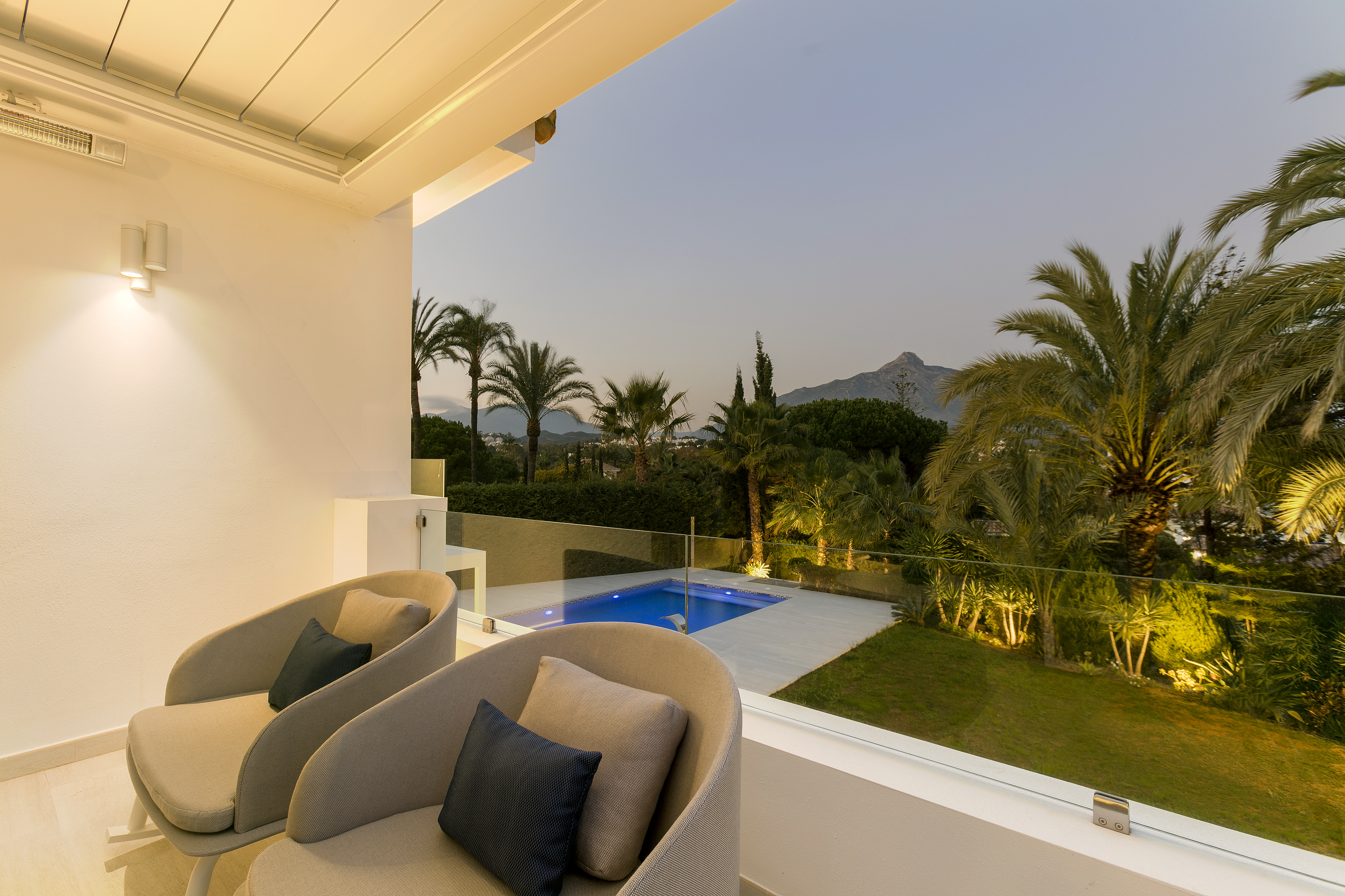 Luxury Holiday Home terrace views